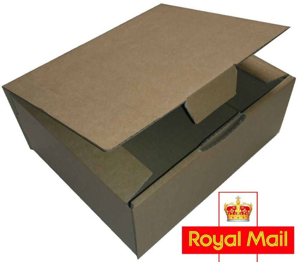 Royal Mail Small Parcel 250x100x100mm Postage Box 25 Pack